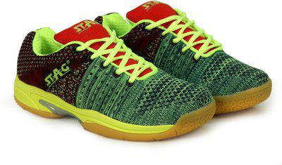 69c57df50f9dc Stag KNITTED GR 011 Badminton Shoes For Men(Green