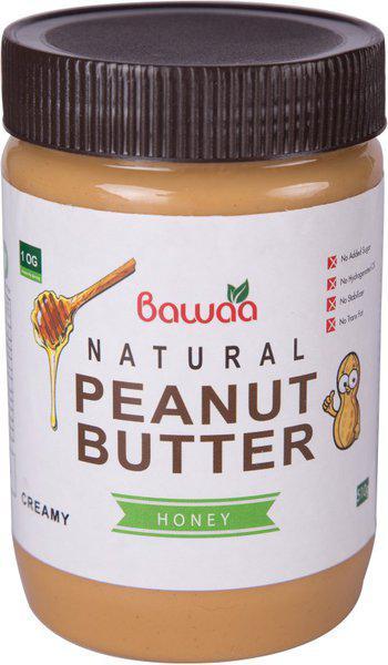 Bawaa Natural Creamy Peanut Butter (Honey, Gluten Free, Vegan) 500 g