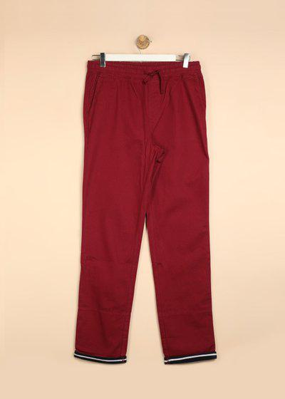 United Colors of Benetton Track Pant For Boys(Maroon, Pack of 1)