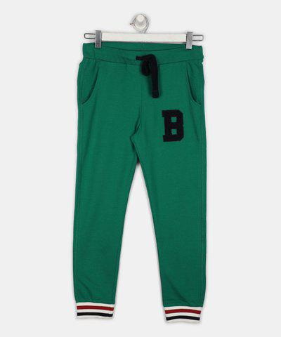United Colors of Benetton Track Pant For Boys(Green, Pack of 1)