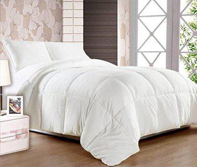 JaipurLinen Plain Double Duvet(Polyester, White)