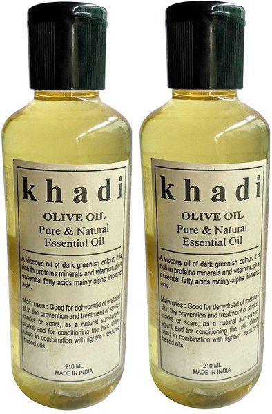 Khadi Herbal Khadi Pure Olive Oil - Pure & Natural Essential Oil(420 ml)