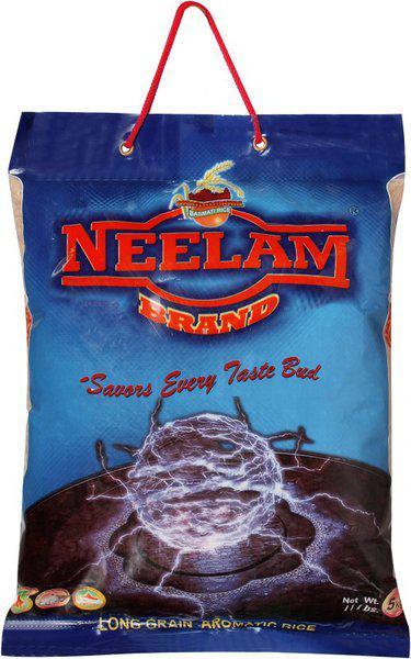 SHRI LAL MAHAL NEELAM ROZANA BASMATI RICE 5 KG Basmati Rice (Medium Grain, Polished)(5000 g)