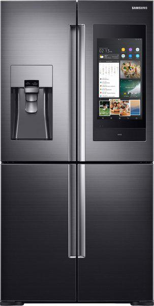 Samsung 810 L Frost Free Side by Side Inverter Technology Star (2019) Convertible Refrigerator with Four Door(Black Caviar, RF28N9780SG/TL)