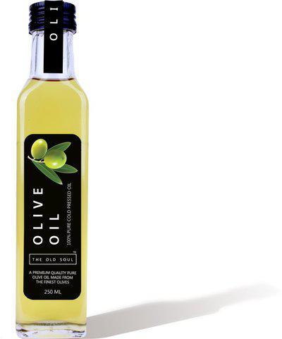 THE OLD SOUL | 100% Pure Cold Pressed Extra Virgin Olive Oil | Jaitun Ka Tel | Glass Bottle | Olive Oil Glass Bottle(100 ml)