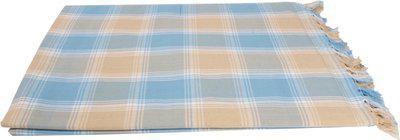 Saagar Tex Checkered Double Comforter(Cotton, Blue)