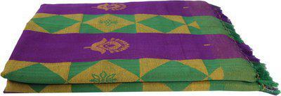 Saagar Tex Checkered Single Comforter(Poly Cotton, Purple)
