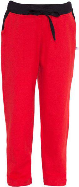 Haoser Regular Fit Boys Solid Red Cotton Kids Track Pant with Pocket H-B-KLW-10_85 (10-11 Years,Red) Pack of 1