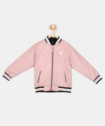Gini & Jony Full Sleeve Self Design Girls Jacket