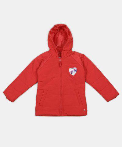 Gini & Jony Full Sleeve Solid Girls Jacket