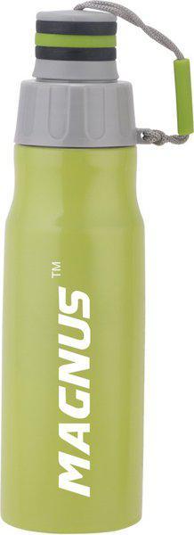 Magnus STREAK 600 ml Stainless Steel Fridge Bottle 600 ml Bottle(Pack of 1, Green)