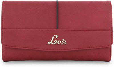 Lavie Women Casual Maroon Artificial Leather Wallet(11 Card Slots)