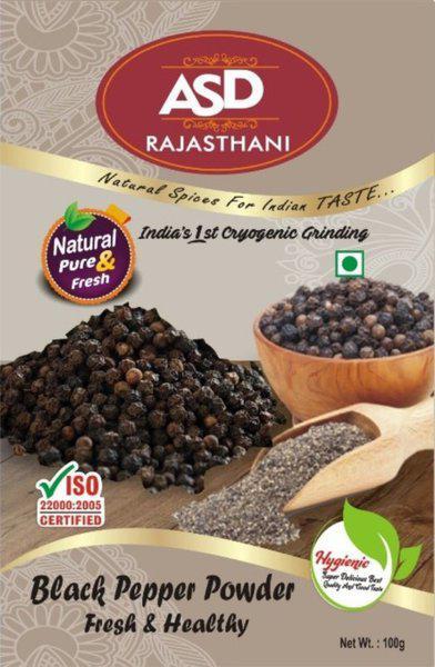 ASD Rajasthani Black Pepper Powder 100g - Pack of 4(100 g)