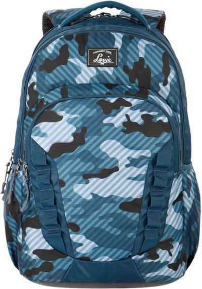 Lavie Women Navy Blue Graphic Backpack
