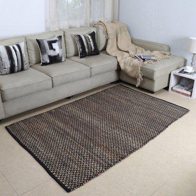 House This Black Cotton Carpet(120 cm X 180 cm)
