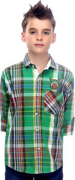 Mash-Up CrazyCool Green Checkered Shirt for Boys. (11-12 Years)