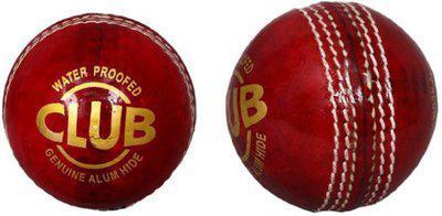 Diablo Sports Leather Club Cricket Ball Red Pack of 2 (4Part) Cricket Leather Ball(Pack of 2, Red)