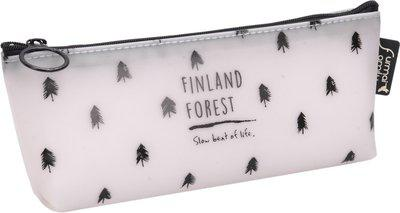 Enwraps Animal Animal Art Canvas Pencil Box(Set of 1, Black)