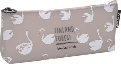 Enwraps Animal Animal Art Canvas Pencil Box(Set of 1, Grey)