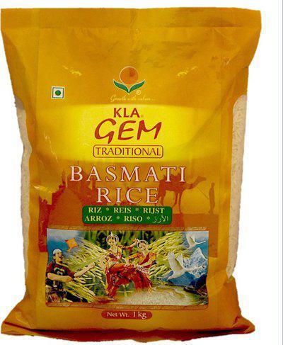 KLA Gem Traditional Dehradooni Basmati Rice, 1 Kg Raw Rice (Long Grain, Sticky)(1 kg)