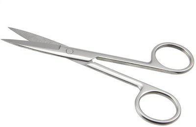 Confidence Small Scissors For Nose Hair Cutting Moustache Scissors For Men, Silver Scissors(Set of 1, Silver)
