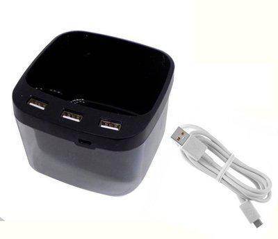 RAAYA 1 Compartments plastic pen stand(Black)