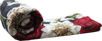 Style 7 Floral Single Comforter(Poly Cotton, Multicolor)