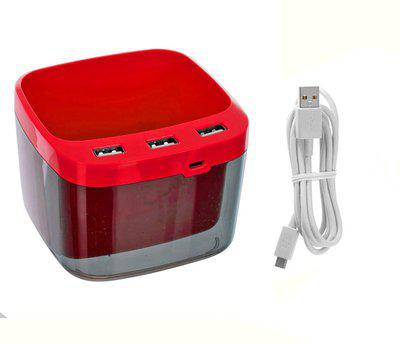 Confidence 1 Compartments Plastic Usb Pen Holder(Red)