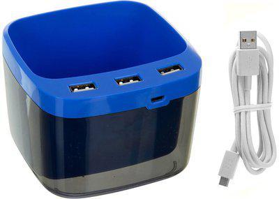 Confidence 1 Compartments Plastic Usb Pen Holder(Blue)