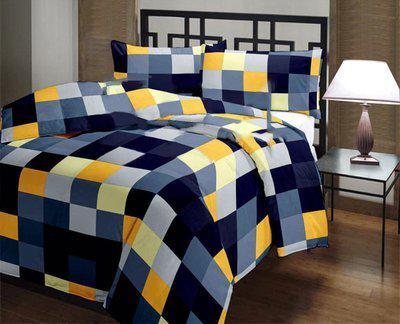 Style 7 Checkered Single Dohar(Poly Cotton, Multicolor)