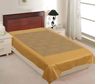 Jai Siya Ram Printers 144 TC Cotton Single Abstract Bedsheet(Pack of 1, Beige3)