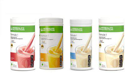 Herbalife Nutrition Set Of Strawberry , Mango , Kulfi & Vanilla Shake Mix Protein Blends(2 kg, Strawberry, Mango, Kulfi, Vanilla)