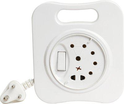 HI-PLASST WHITE FLEX BOX WITH LED INDICATOR (4MTR CABLE) 3 Socket Surge Protector(White)