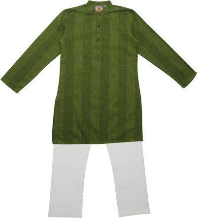 Salwar Studio Boys Festive & Party Kurta and Pyjama Set(Green Pack of 1)