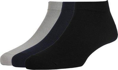 Peter England Men's Cotton Quarter Length Socks (Pack of 3)