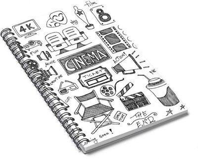 Paper Plane Design Spiral Journal A5 Diary 140 Pages(White, Black)