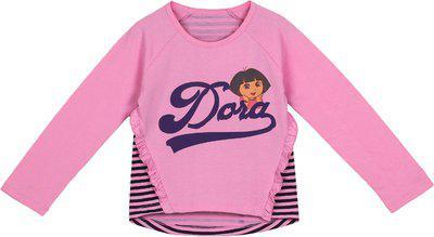 DORA Girls' Long Sleeve Top (DRPGFE1579_Begonia Pink_2-3 Years)