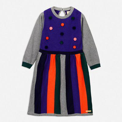 Cherry Crumble California Girls Midi/Knee Length Casual Dress(Multicolor, Full Sleeve)