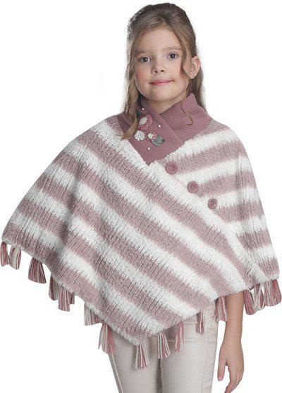 Cutecumber Terry & Sweater Knit Poncho