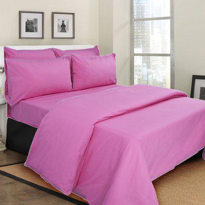 Mark Home Queen Cotton Duvet Cover(Pink)