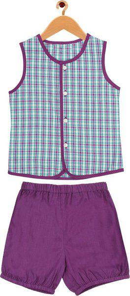 ShopperTree Baby Boys & Baby Girls Casual Top Bloomer(Multicolor)