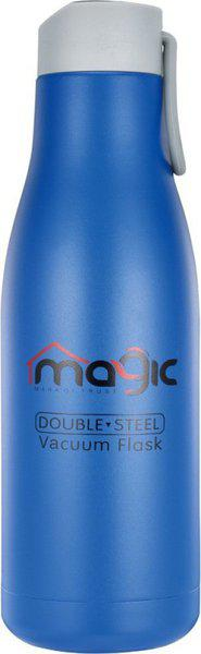 Magic Double Wall Stainless Steel Sports Flask,BPA Free Travel Water Bottle 750 ml 750 ml Flask(Pack of 1, Blue)