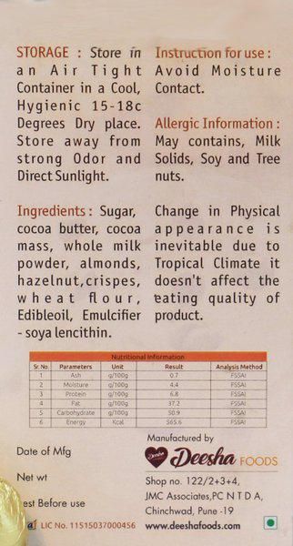 Deesha Foods Centre Filled Coffee Chocolates 18 Bars(18 x 13.33 g)