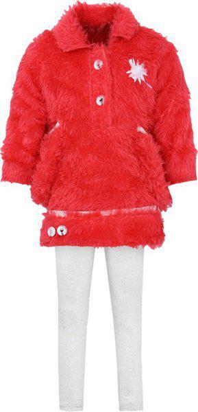 Aarika Baby Girls' Regular Fit Clothing Set (FR-809_Orange_18-24 Months)