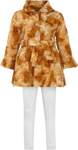 Aarika Baby Girls' Regular Fit Clothing Set (FR-806_Beige_18-24 Months)