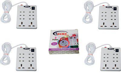 NXT POWER 8+1 (4 PCS) 8 Socket Surge Protector(White)