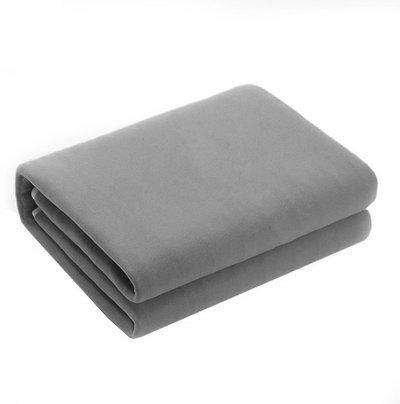 Confidence Plain Single Mink Blanket(Cotton, Grey)