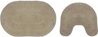 BOXO Beige Cotton Area Rug(30 inch X 18 inch)