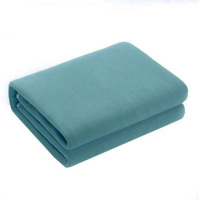 Confidence Plain Single Mink Blanket(Cotton, Sea Green)