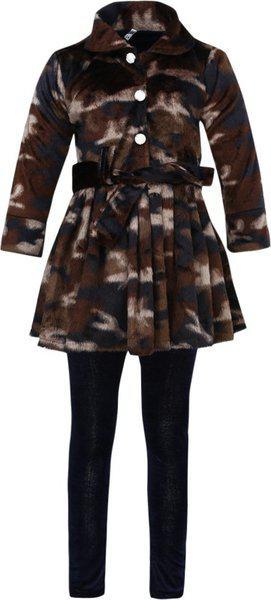 Aarika Baby Girl's Wool Clothing Set (FR-810_Coffee_18-24 Months)